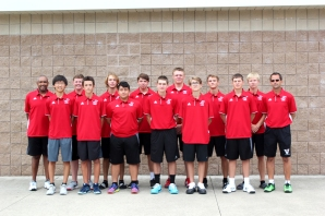 Varsity Tennis Front row left to right: Jukyung (Edgar) Kim, Ayden Flickinger, David Rutt, Corbin Wallace, Andrew Reno, Jacob Henderson, Coach Eric Flickinger. Back row left to right: Head Coach Warner Offord, Erik Beal, Connor Siefert, Sam Gearig, John Perkins, Casey Hall, Kevin Veld.