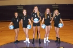 Freshman Volleyball Left to right: Lilly Curtis, Jordan Watts, Isabel DeVisser, Taylor Abfall, Hannah Kelecava. Not pictured: Savanneh Gunter, Hannah Grochowski.