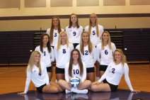 Varsity Volleyball Seated left to right: Halie Rhoda, Kayla Onken, Mattie Ballett. Middle row left to right: Chloe Outman, Olivia Ingle, Abby Pincumbe, Alisa Ertman. Back row left to right: Brooke Crissman, Kelsey Feddema, Andelyn Simkins. Not pictured: Paige Gebben, Anna Schuppel.
