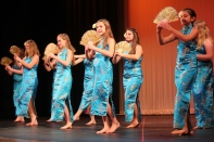 Dancers from the Vicksburg Community Education dance classes will be performing on a stage in Oswalt Park on Saturday afternoon. The Hawaiian dance troupe seen above will be featured.