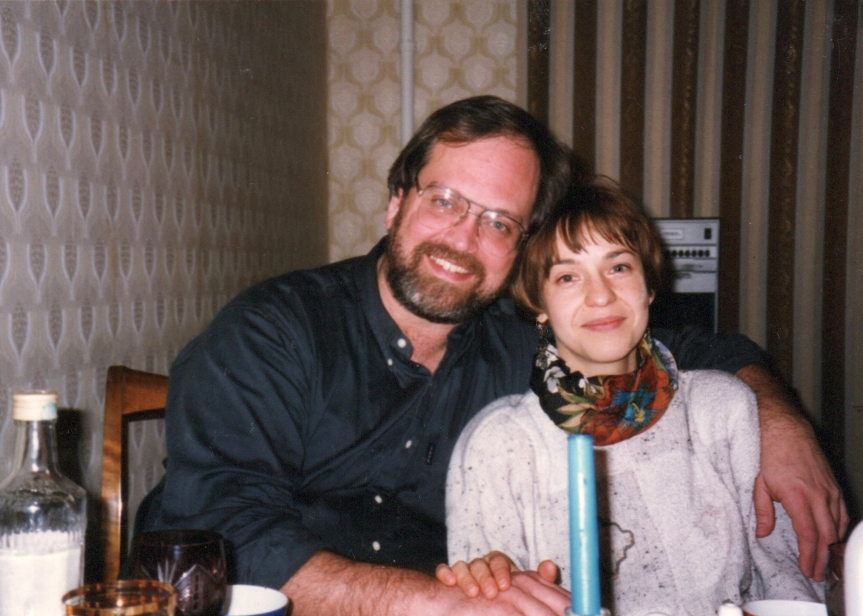 Jim and Natasha Moscow 1996