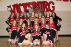 Competitive Cheer Front row, left to right: Taylor Grigg, Rachael Brewer, Taylor Woosley. Middle row, left to right: Allyson Brewer, Michelle Smith, Frances Howard, Rileigh Klutts, Courtney Zinsmaster, Kaitlyn Boll. Back row, left to right: Dawnara Rollins, Breyana Scamazzo, Eden Bowling, Makenna Pillars, Jaden Lemacks, Olivia Ferree, Coach Stacy Childs. Not pictured: Alyssa Kamerman, Assistant Coaches Kasey Tassell and Teri Johnston.