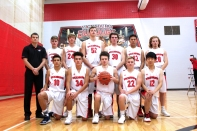 JV Basketball Kneeling, left to right: Jacob Conklin, Chase Myers, Ethan Razmus-Buscher, Jacob Baird, Daniel Oh. Standing, left to right: Coach Zach Kasper, Lucas Hatridge, Dillon Shook, Adam Verner, Jared Gorsline, Will Thomas, Ben Welch.