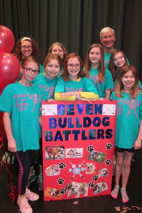 Nearly 300 students compete each year in the Battle of the Books. Each team gets to select their own name and is assisted by one or two adult coaches.
