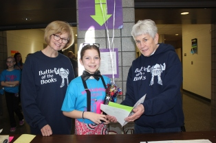 Schoolcraft librarians assist students with their work on Battle Day at the Performing Arts Center.