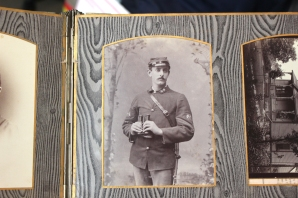 He discovered this picture of a Spanish-American War soldier in a Haas family collection of mementos.