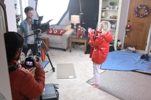 Jordyn Jones in action while filming a video. Photo by Owen Caster and Carolina Gonzalez.