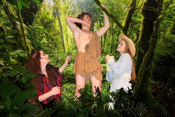 Tarzan on background