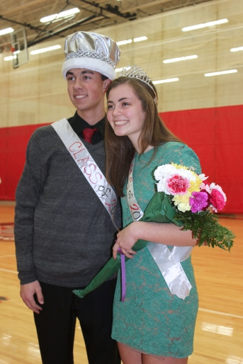 Hunter Myers and Anna Schriemer were happy to be selected as Vicksburg's Homecoming king and queen.