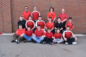 Varsity Golf Front row, from left: Kevin Munn, Seth Crabtree, Dylan Detwiler, Mason Parsons, Taylor Harvey, Cody Vanderhorst. Second row, from left: Brett Manski, Gabe VanDyke, Nick Peacock, Jordan Cosby, Ben Johnson, Regan Powell. Third row, from left: Coach Rob Johnson, Cameron Haase, Tristan Decker, Coach Jim Douglass. Not pictured: Kyle O'Brien and John McNeal.