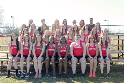 Girls Track Front row, from left: Gracie Cornett, Riley-Ann Bierema, Taylor Grigg, Jayla Lockhart, NevaeH Randle, Paris Price, Avalee Goodman, Megan Bresnahan. Second row, from left: Angie Loriso, Sawyer Barton, Stacy Fogleson, Annie Gebben, Kayla Kline, Natalie Walraven, Grace Wile, Mia Mulhearn. Third row, from left: Allyson Naster, Anessa Laske, Alyssa Thompson, Hannah Fenwick, Paige Abnet, Amelia Ruger, Kinsay Riddle, Angel Currie. Back row, from left: Assistant Coach Jessie DeKoning, Assistant Coach Andrew Skelly, Hannah Flickinger, Anna Knowles, Micayla Bozeman, Anna Freund, Coach Lucas Wolthuis. Not pictured: Trinity Purdiman, Michelle Smith.
