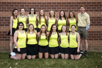 Tennis Front row, from left: Isabella Parker, Hope Spencer, Savannah McDonald, Abby Blodget, Kayla Julien, Maya Pearce. Back row, from left: Grey Buchheit, Kelsey Feddema, Emily Parker, Paxton Green, Zoisha Kuiper, Annika Varker, Grace Deyoung, Coach Eric McGehee. Not pictured: Jaice Parker, Destiny Betz.
