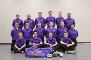 Golf Front row, from left: Collin Hampton, Sean Endres, Carter Griffoen, Tyler Endres. Second row, from left: Nolan Ballard, Aaron Ebersberger, Parker Lawrence, Brett Denharder, Josiah Blodgett, Sabrina Welch. Back row, from left: Assistant Coach Jon Krum, Coach Terry Haas, Jack Waldron, Rielly Troyer, Max Desmond, Assistant Coach Dave McCurley. Not pictured: Riley Piper, Reilly Puhalski, Skyler Thompson, Riley Watts.
