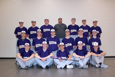 Varsity Baseball Front row, from left: Dalton Adams, Austin Edwards, Alex Thole, Wyatt Adams, Dawson Shearer. Middle row, from left: Jack Hunt, Brady Flynn, Connor Nutt, Stephen Schultz, Riley Piper, Jeff Gott. Back row, from left: Garrett Davis, Mason Vernia, Mark Shaink, Coach Larry Phelps, Bryce VanderWiere, Mark Melching, A.J. Army. Not pictured: Carl Taylor, Manager Sam Bell.