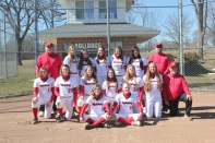 Varsity Softball Front row, from left: Keagan Kelley, Danielle Diekman. Second row, from left: Rylie Richter, Kelsey Diekman, Kali Yant, Tailynn Knapp, Lauren Goertler, Cydney Foster, Coach Paul Gephart. Back row, from left: Assistant Coach Lee Noel, Hannah Vallier, Remi O'Neill, Camille Wadley, Avery Slancik, Lilian Vaughn, Assistant Coach Mike Slancik.