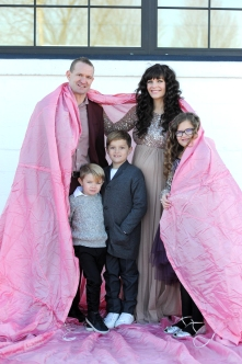 Jamie and Windy Clark, pictured with kids Bowie, Remy, and Charli, opened a new event center in Schoolcraft. Photo by Trudy Holtz Photography.