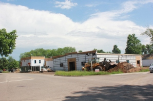 The former Krum-Hallam Chevrolet dealership building at the corner of W. Prairie Street and Boulevard in Vicksburg. It is getting a huge make-over and will become the Rim and Rail event space upon completion.