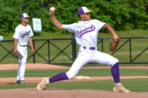 Alex Thole pitched a superb baseball game in the state tournament. Photos by Stephanie Blentlinger, Lingering Memories Photography.