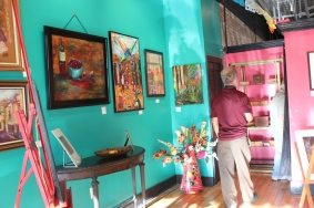 Coco's Gallery was open to display Carmen Sweezy's paintings.