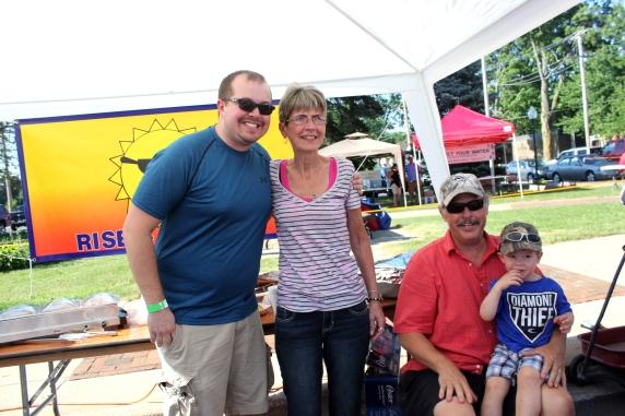 The DeBault family, owners of Rise-N-Dine, were vendors at the 2016 Taste of Vicksburg. Jake, Deb, John and grandson.