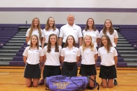 Golf Front row, from left: Kayla Julien, Abby Blodgett, Annika Peterson, Ella Eddy, Hannah Grochowski. Back row, from left: Taylor Abfall, Beth Pavlak, Coach Terry Haas, Annika Varker, Jordan Watts.