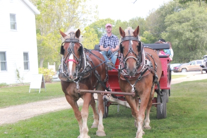 Wagon rides through the village of Vicksburg will be a feature of the Harvest Festival for the many families attending the event.