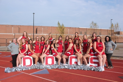 Varsity Cheer Seated, from left: Olivia Ferree, Frances Howard, Allyson Brewer, Aly Earl, Paris Price, Taigen Copeland, Courtney Zinsmaster, Kaitlyn Boll. Standing, from left: Assistant Coach Teri Johnston, Makenna Pillars, Rileigh Klutts, Madison Bullis, Alyssa Kamerman, Aislyn Brown, Eden Bowling, Dawnara Rollins, Alyssa Kaye, Tanyr Fruehauf, Coach Stacy Childs.