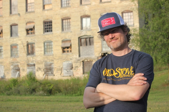 Chris Moore, owner of Old Stove Brewing Company in Seattle who is planning to have a taproom and brewing operation in the Mill.
