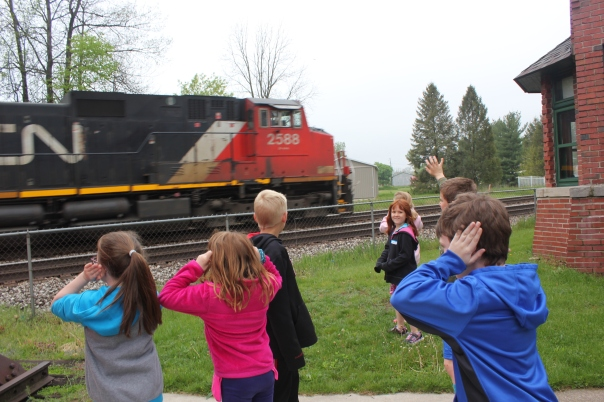 train with kids