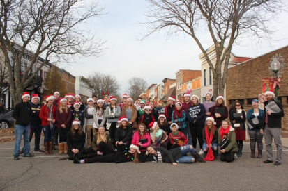 Each year the combined choirs of Vicksburg High School with their conductor Dusty Morris, bring Christmas caroling to new heights as they walk through the downtown stores to sing to customers. They will also perform on the stage at Oswalt Park this year as part of the tree lighting ceremony.