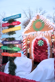 The Indian Lake Girl Scout troop entered this float in the 2017 Christmas in the Village parade and won second place.