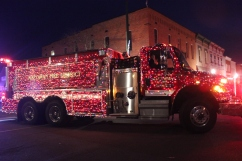 Fire trucks donned their Christmas finery with lights that enveloped the big machines. Crandell's antique fire truck placed first, followed by Vicksburg's own Engine #1, which was first place in the overall fire engine category.