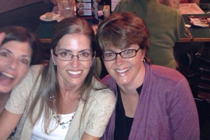 Penny Toornman Major is on left and her twin sister Laurie Toornman Hare is on the right.