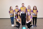 Bowling: Front row, from left: Adriana Morocho, Linsey Hills. Back row, from left: Macaela Glasheen, Brynleigh Macinnes, Head Coach Mark Blentlinger, Breanna Trimble, Maya Pearce. Not pictured: Assistant Coach Shelby Bruystens.
