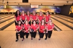 Bowling: Front row, from left: Jillian Koenig, Payton Johnson, Belle Kokales, Samantha Fritz, Samantha Cox. Back row, from left: Sky Trimble, Savannah Harring, Leah Pierce, Kassidee Root, Maryssa Wright, Mykah Zehner. Photo by Lisa Harbour.