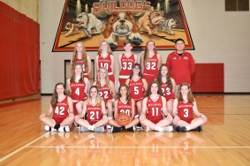 Freshman Basketball: Seated, from left: Megan Kendall, Sophie Evans, Savina Centofanti, Ryleigh Smith, Megan Kersey. Kneeling, from left: Logan Hutchinson, Torie Barga, Katie Bell, Madison Foster. Standing, from left: Kennady Simmons, Hannah Johnson, Maci Crabtree, Paige Lafler, Coach Andrew Diep. Not pictured: Maya Peters.