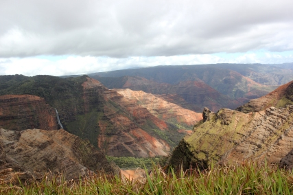 Pictured here are the vibrant colors of the Waimea gorge that took a day of travel to reach on the Kauai'I island. They are a spectacular sight.