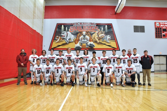 Boys Varsity Lacrosse Front row, left to right: Drew Fitzsimmons, Chase Mynheir, Noah Millin, Colby Leach, Michael Kessler, Krew Conroy, Adam Verner, Rhodes Conroy, Carter Coffinger. Back Row: Assistant Coach Kyle Martin, Sam Magnell, Ben Dilly, Josh Morrissey, Kyle Kelly, Matt Hybels, Griffin Day, Jaden Eaton, Nick Anstead, Jack Tomer, Sam Gearig, Aaron Phelps, Assistant John Hempel, Head Coach Michael Malloy.