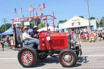 This engine #8 comes to the 4th of July parade each year and last year it wore a for sale sign.