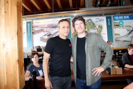 Raj Singh and Chris Moore meet for an interview two days after receiving awards at Old Stove Brewery in the Pike Place Market in Seattle.