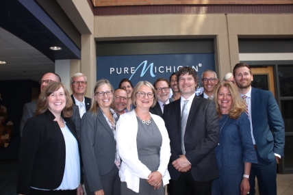 The Mill of Vicksburg team presented their Transformational Brownfield plan in July at the Michigan Economic Development's (MEDC) Strategic Fund meeting in Lansing where the Pure Michigan offices are located.