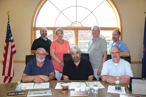 The Schoolcraft village council members include those seated from left: Russell Barnes, President Keith Gunnett, Mike Rochholz. Standing from left: Sy Spears, Kathy Mastenbrook, John Stodola, Todd Carlin.