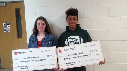 Brianna Buckhout and Dontrell McFerrin were awarded camperships.
