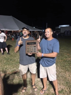 The Vicksburg Lions Club had 110 participants, the largest field yet, for the 9th annual cornhole tournament Friday night July 26. The tournament lasted nearly 6.5 hours. Steve Heath and John Ringler are the 2019 champions.
