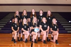 Freshmen Volleyball from left, front row: Alayna Meade, Johanna Bennett, Mariah Flynn, Brooke Medema, Paige Outman. Back row: Jade Jager, Caden Bruner, Heidi Sheen, Alexis Candler, Cassidy Bruner. Not pictured: Coach Shelby Suseland.