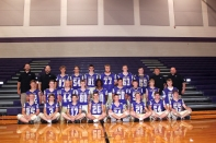 JV Football from left, front row: Trent VandenAkker, Gary Cramer, Tanner Smith, Nolan Strake, Noah Graber, Andrew Taylor, Aiden Flinton, Sam Bell. Second row: Gavin Lawrence, Kannan Burgess, Jonathon Zinsmaster, Riley Cochran, Malachi Sampley, Zach Engel, Carter Graber, Trey Schneider, Kyle Quick. Back row: Coach Brian DeVries, Coach Sean McDonald, Brody Hofstra, Ricky Peters, Cannan Pavey, Ian MacDonald, Drew Webb, Brennan Gerow, Coach Travis Wycoff, Head Coach Tracey Branch.
