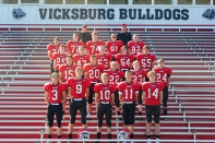 Freshmen Football from left, front row: Bryce Smith, Bo Skidmore, RJ Vallier, Caden Bowling, Adam Phelps. Second row: Stuart Brown, Xavier Wadley, Daxton Rugg, JP Culver, Tustin Scott. Third row: Harrison Barton, Ty Barnes, Linkoln Kowalski, Elijah Hall, Cooper Androsky. Fourth row: Jordan Gorsline, Bo Lewis, Jack Moise, Brenden Hoffman, Michael Wright. Back row: Assistant Coach Paul Gephart, Head Coach Zach Wierenga. Not pictured: Aaron Vanderhorst, Jayden Bontrager.