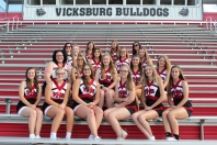 Varsity Cheer from left, front row: Tanyr Fruehauf, Jaden Lemacks, Eden Bowling, Rileigh Klutts, Courtney Zinsmaster, Dawnara Rollins. Second row: Kaitlyn Boll, Alyssa Ott, Olivia Ferree, Frances Howard, Allyson Brewer. Third row: Makenna Pillars, Emily Stanley, Emma Moss, Mackenzie Lyp. Fourth row: Assistant Coach Teri Johnston, Anna Oppedisano, Madison Richards, Head Coach Stacy Childs.