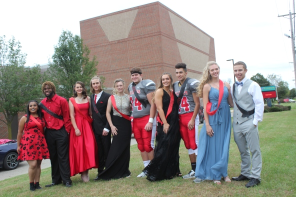 Court, from left to right: Autumn Johnson, David Pitts, Isabell Willis, Drake Haase, Kelsey Diekman, Kyle Rose, Remi O'Neill, Chase Myers, Anessa Laske and Chase Stenger. King, Kyle Rose; Queen, Kelsey Diekman.
