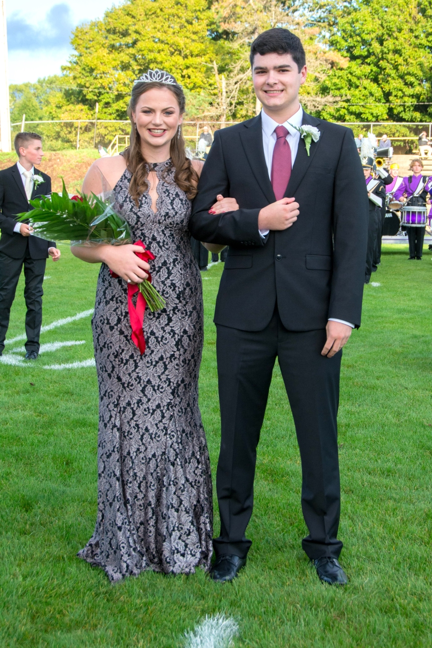 Princess Allison Bailey and Prince Sam Woodhams. Schoolcraft Homecoming photos by Stephanie Blentlinger, Lingering Memories Photography.